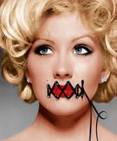 Colorize Christina Aguilera by BLAxBLA