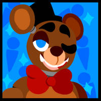 -Free To Use- FNAF 1 Freddy Icon by rabbitkit