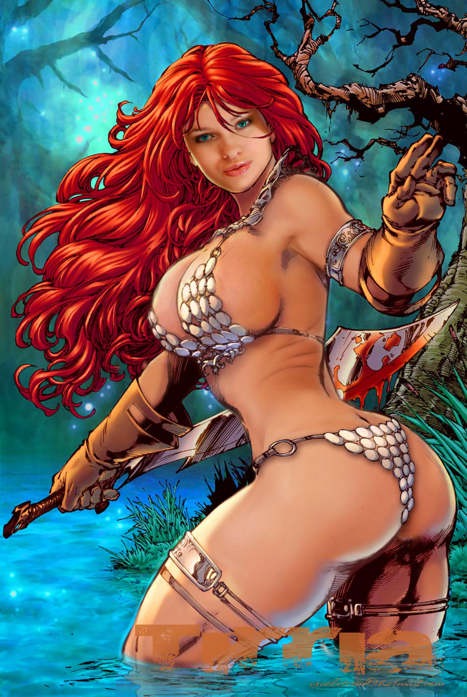 Sexy red sonja comic art