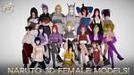 NARUTO 3D FEMALE MODELS! DOWNLOAD!