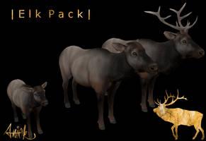 Elk Pack - FeralHeart Mesh by giddyfox