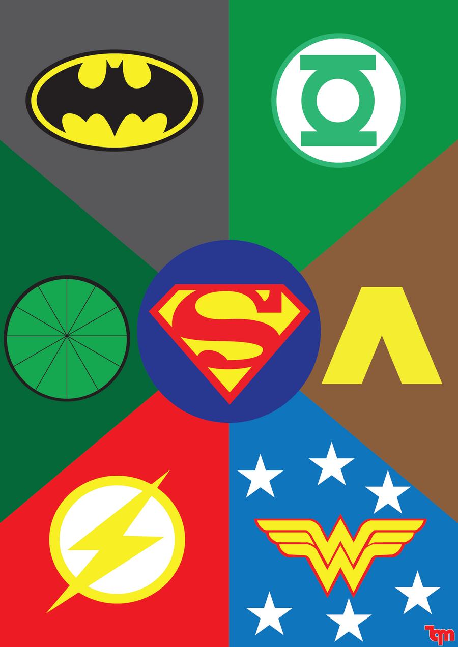 Justice League Emblems JUSTICE LEAGUE by spik...