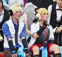 96Neko and Len by Aikito-chan