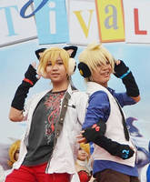 96Neko and Len [2] by Aikito-chan