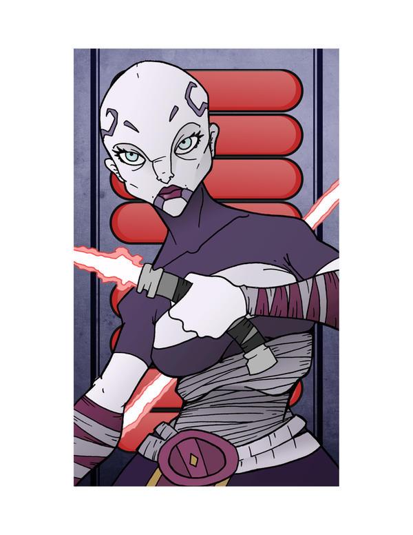 Sith Apprentice Asajj Ventress by JasonWelcome