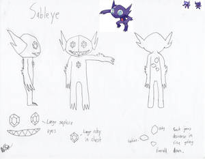 Sableye Costume Reference