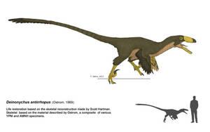 Deinonychus antirrhopus 2013 by DELIRIO88