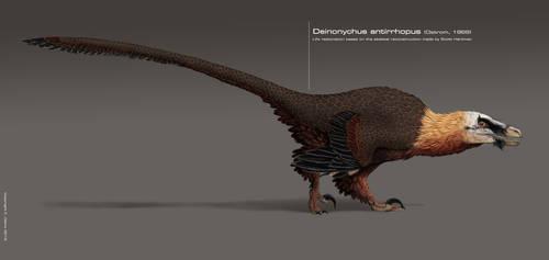 Deinonychus antirrhopus 2015 by DELIRIO88