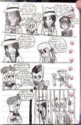 Nikei and Sora investigate a murder scene