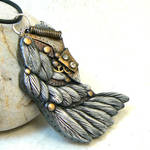 Steampunk wing, feathers