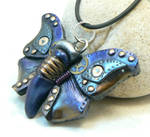 blue steampunk butterfly