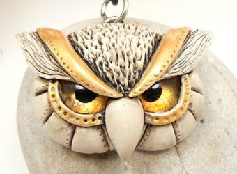 Faux Carved Bone Owl by DesertRubble