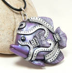 purple steampunk angel fish