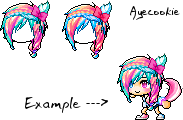 [100 Watchers] Maplestory Custom / Mixed Hair 2 by Kynchi