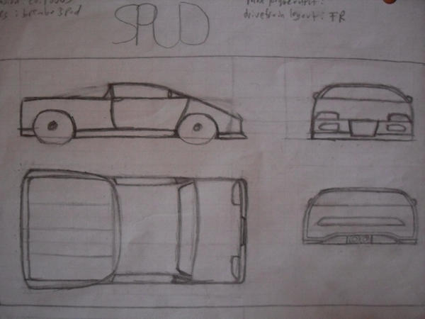 Concept truck sketches by C1Rob
