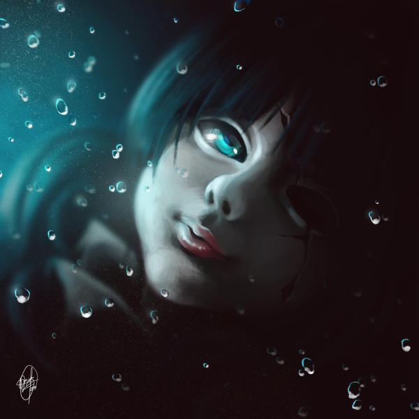 Submerged Broken Doll by Danii-D