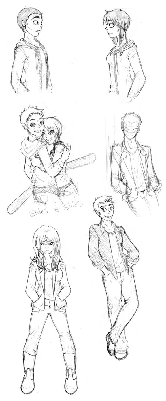 Teen Wolf sketch dump part 2