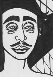 Self Portrait in Sharpie by peenwen