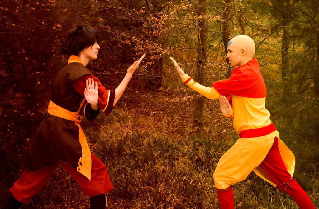 Zuko and Aang by Ellyana-cosplay