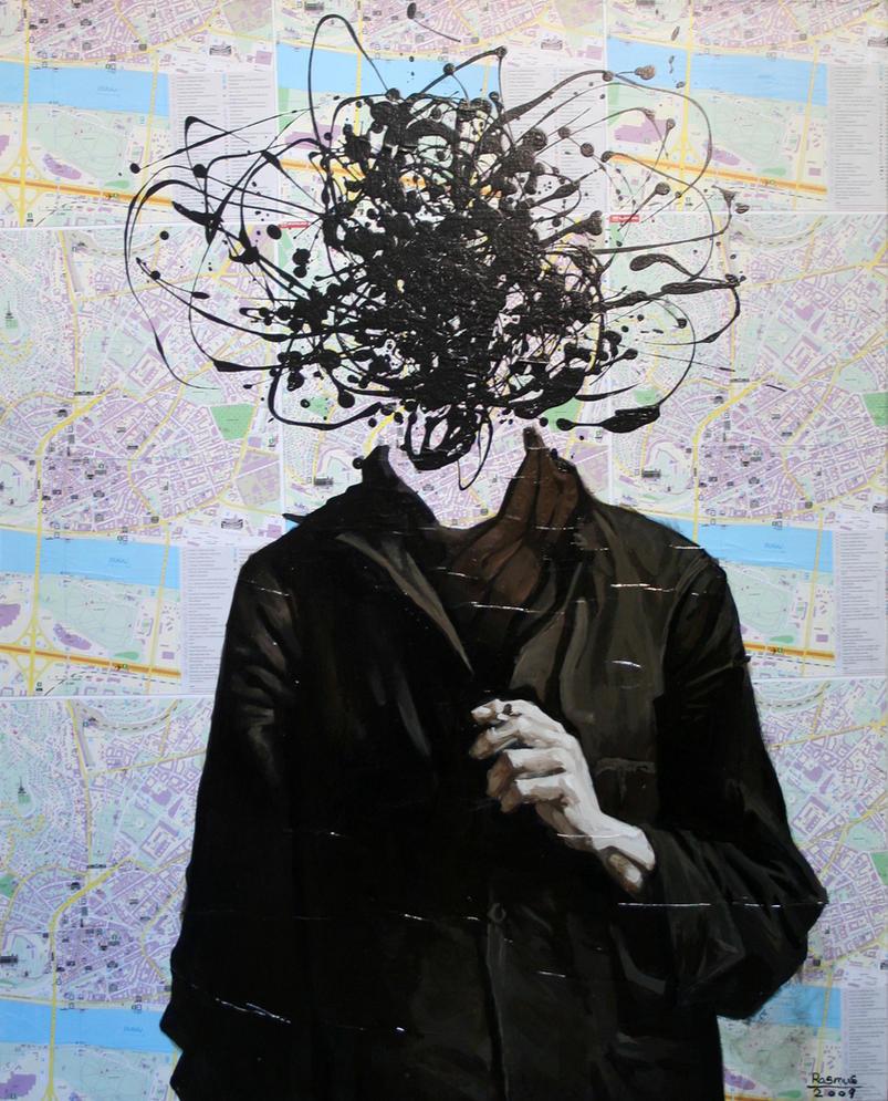 Portrait Of Jackson Pollock By Gallerifloskl