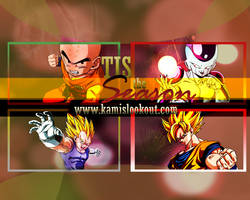 DBZ christmas wallpaper by SolidMetal