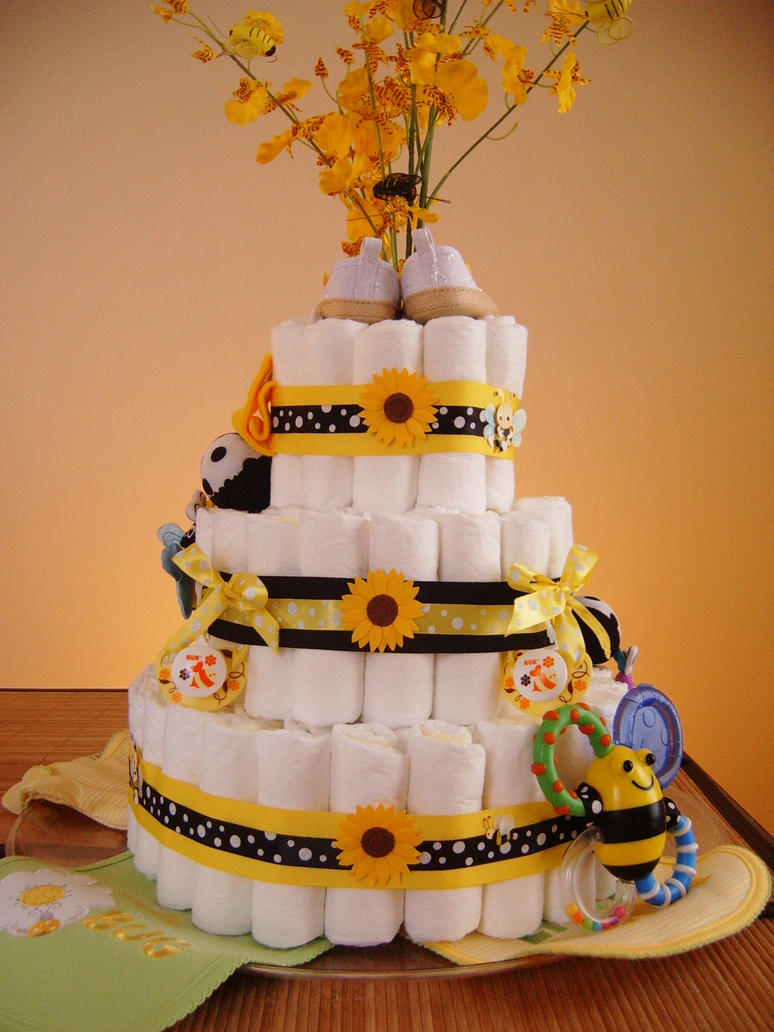 Cake Art Reddit : Bumble Bee Diaper Cake by lungcavityatf on DeviantArt