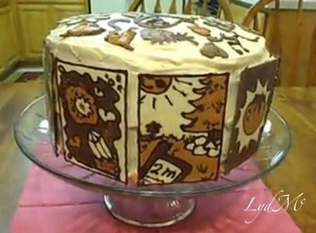 Chocolate Painting Birthday Cake by LydMc