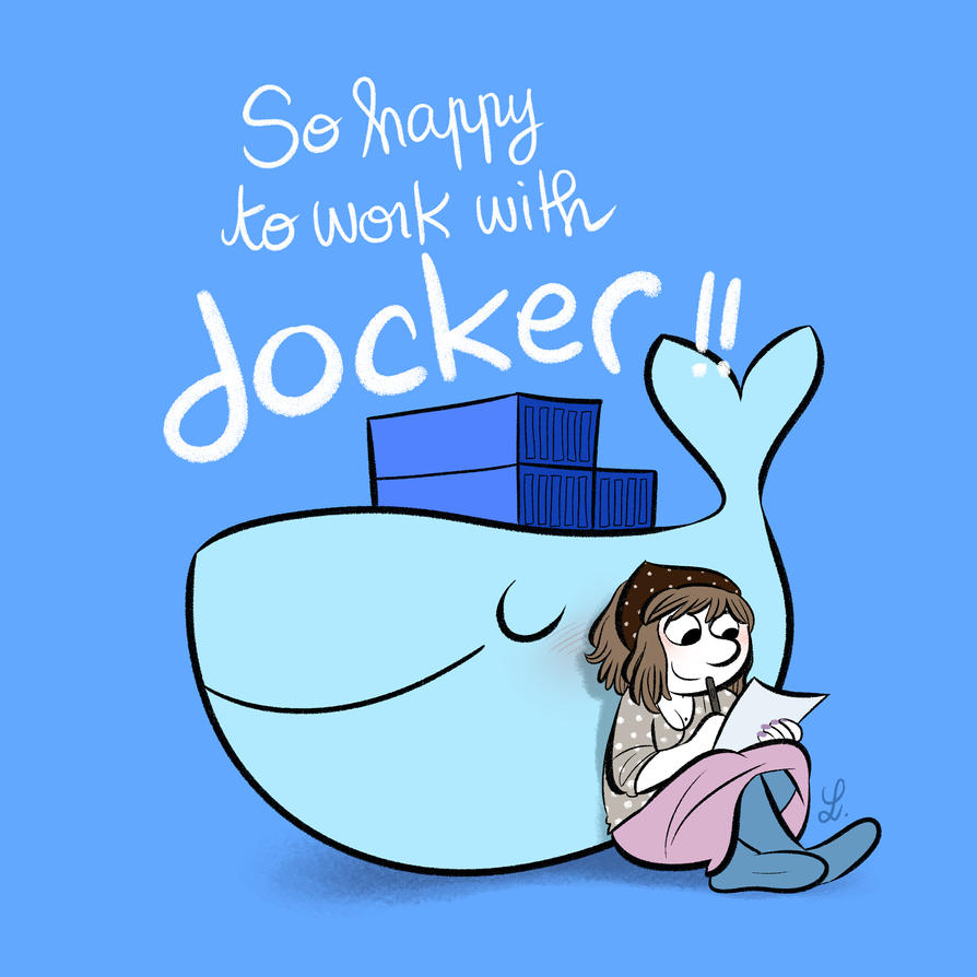 So happy to work with Docker by bloglaurel