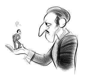 from a drawing of John Nevarez by bloglaurel