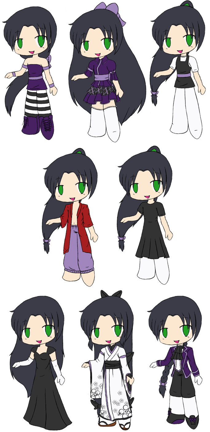 Chibi Shouren Outfits by touchofdestiny on DeviantArt