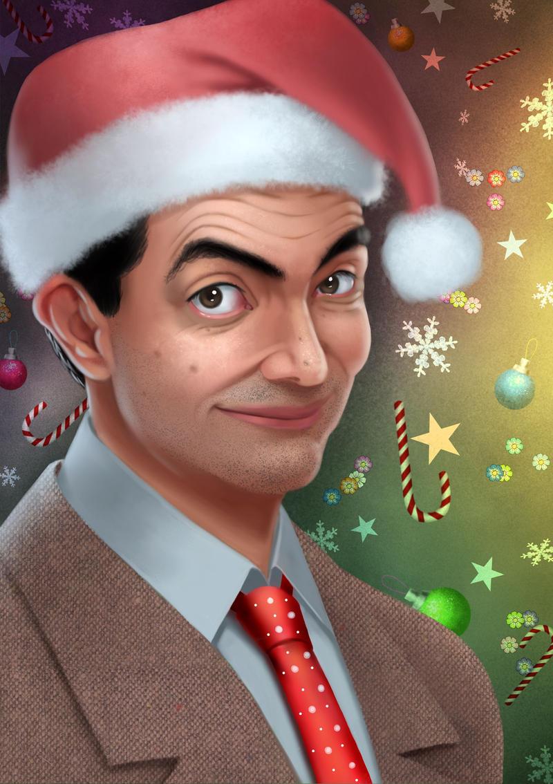 Mr Bean Christmas.Merry Christmas Mr Bean By Sebijy On Deviantart