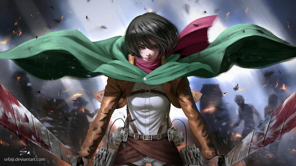 Mikasa (Attack on titan) by Sebijy