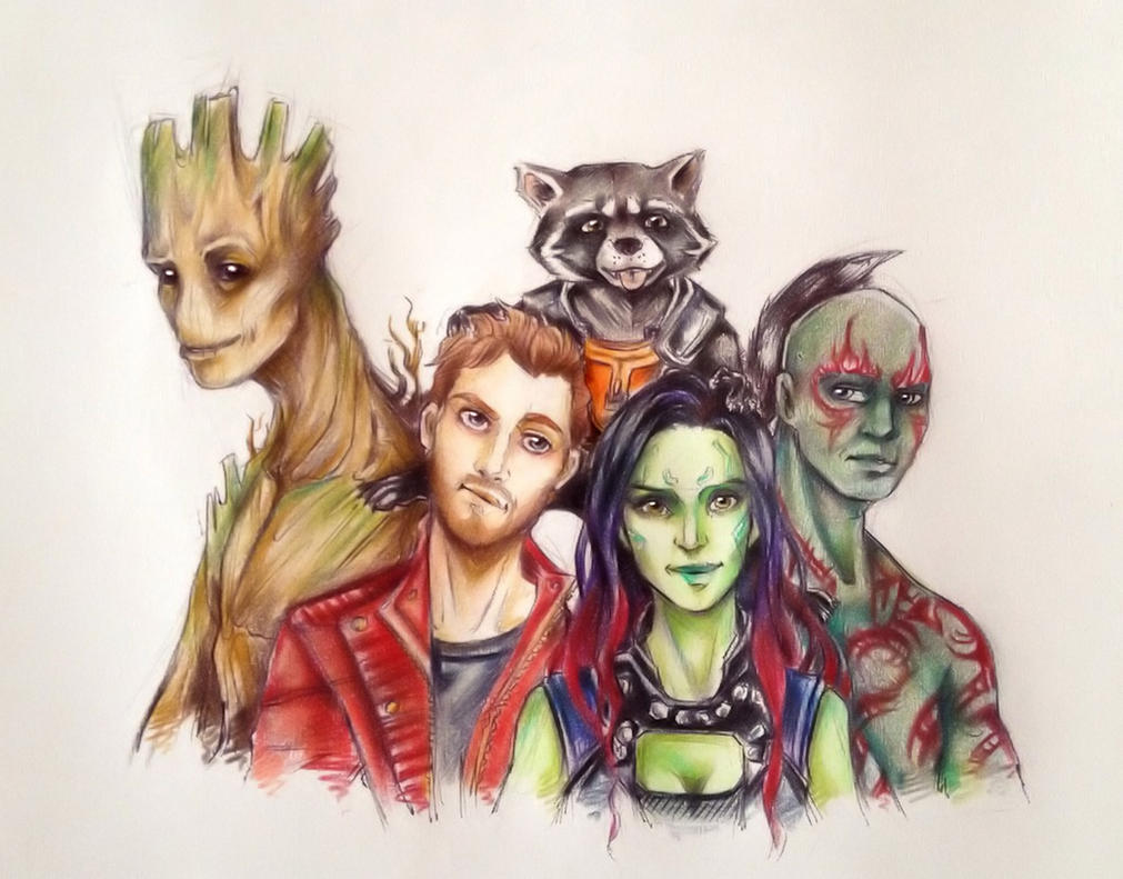Star Lord And Rocket Raccoon By Timothygreenii On Deviantart: Guardians Of The Galaxy By The30thOfFebruary On DeviantArt