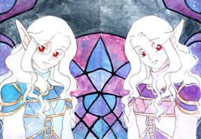 Commission: Thandria and Zarayna by adreamofthestars