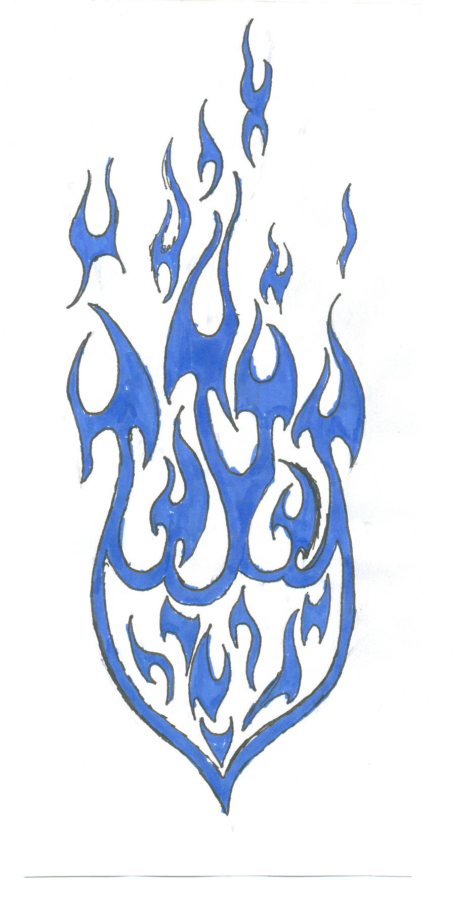 tribal flame tattoo by frantic7270 on deviantart. Black Bedroom Furniture Sets. Home Design Ideas