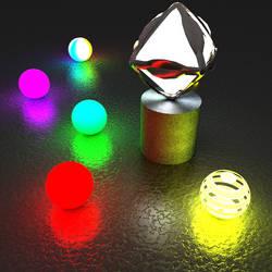 Test Bryce - luminous objects... by GabrielM1968