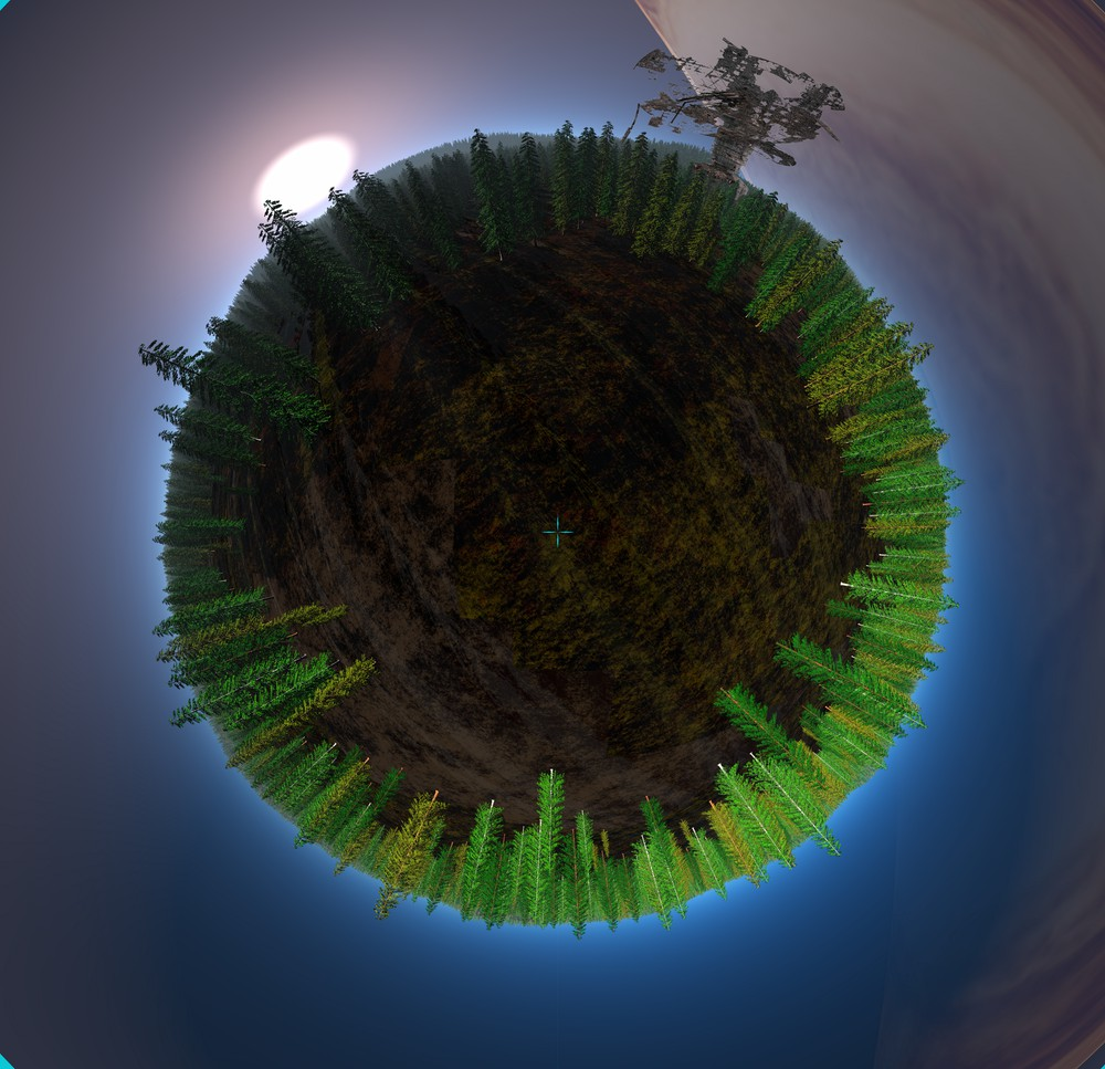 Tiny planet test - Endor by GabrielM1968