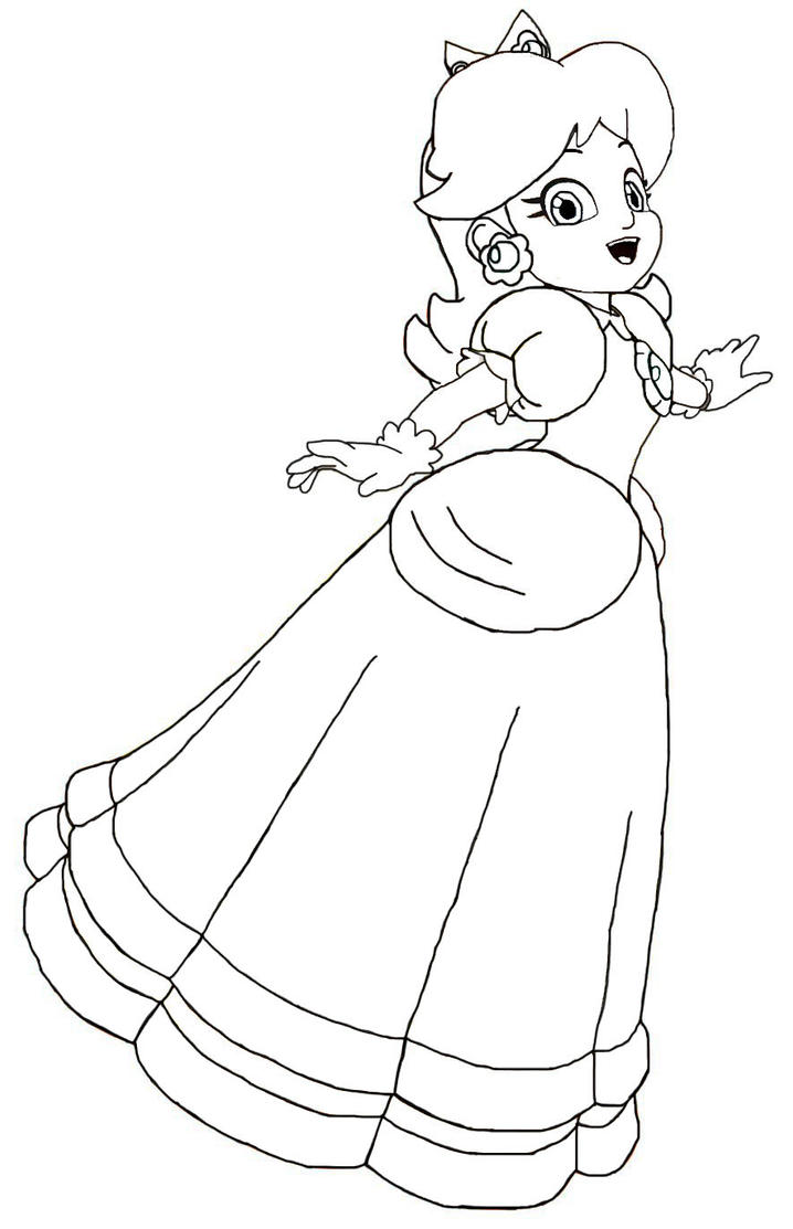 daisy mario coloring pages - photo#27