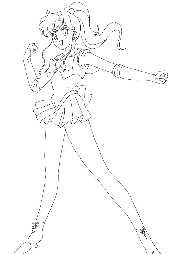 Sailor jupiter victory lineart by hero of awesome on for Sailor jupiter coloring pages