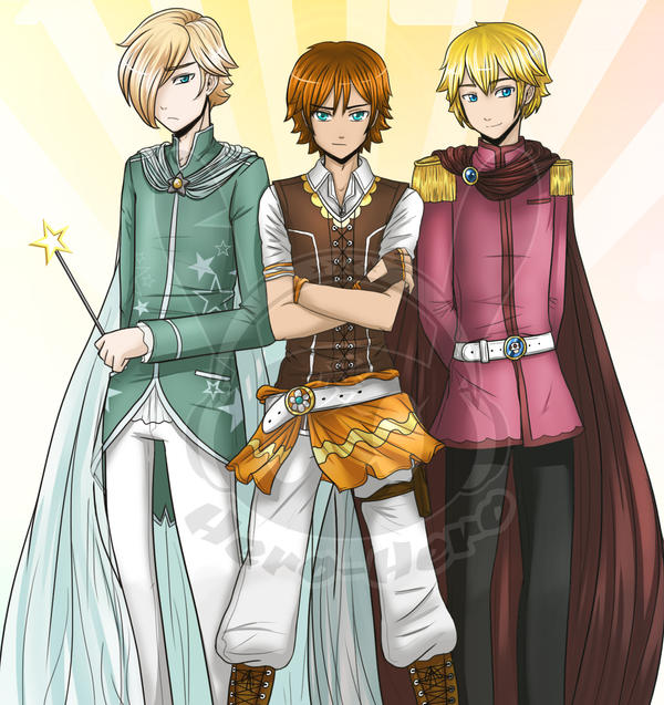 Nintendo Princes by Hero-of-Awesome