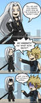 FF7: Cloud and Sephiroth Comic by Hero-of-Awesome