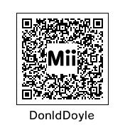 Donald Doyle QR code by burntuakrisp