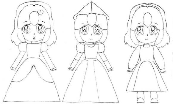 Princess Freya (Frisk) Outline