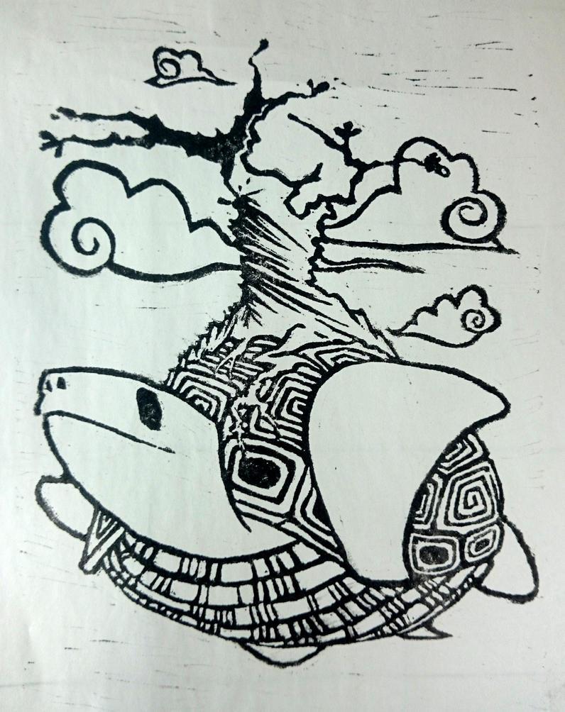 Flying treeturtle by Shalada