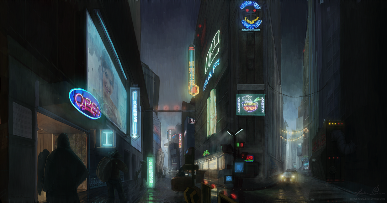 Blade Runner - Alley by Resusan