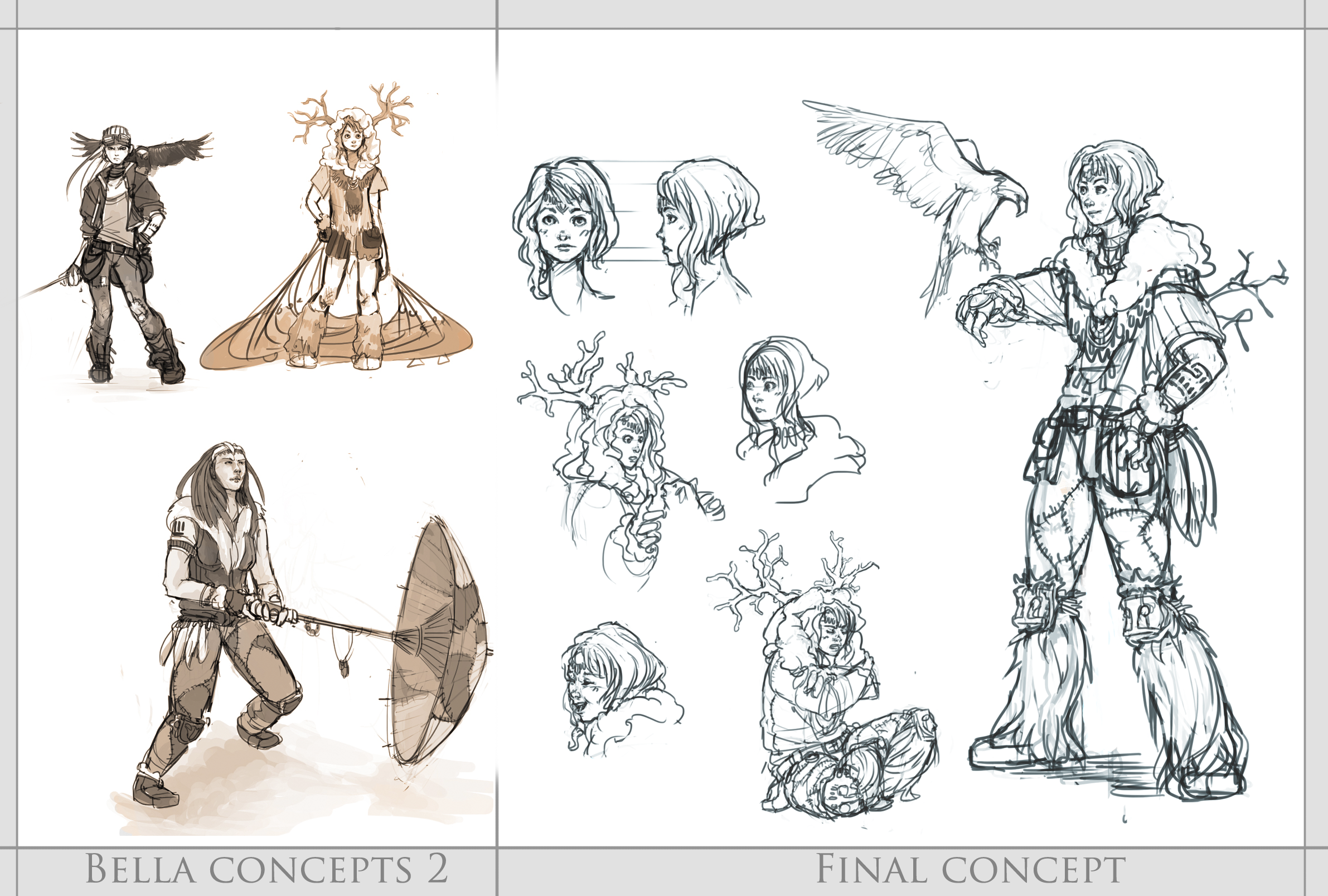 Character Concept Art From Initial Sketch To Final Design : Bella concept final design by resusan on deviantart
