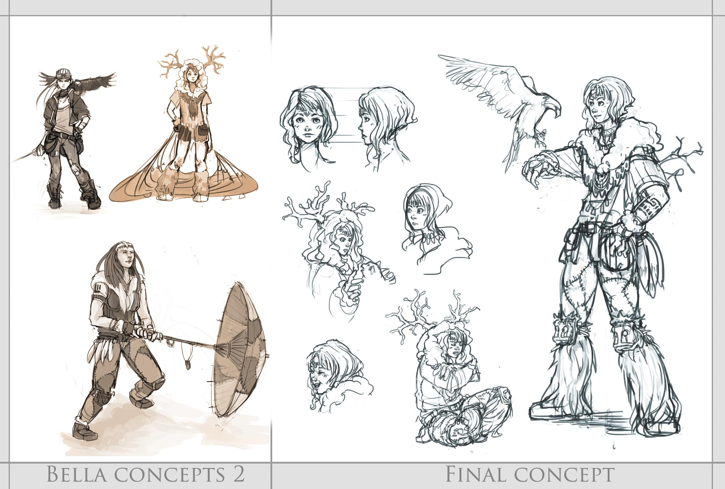 Character Development Design Process : Bella concept final design by resusan on deviantart