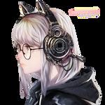 Chica con auriculares [Render Random #4]