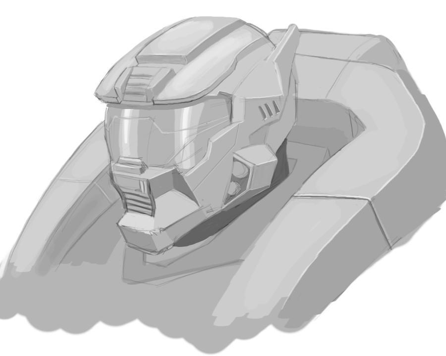 Halo Reach Jorge Helmet by solidoussnk on deviantART