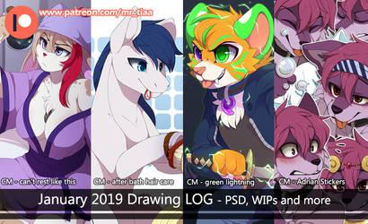 JANUARY 2019 - drawing log by mr-tiaa
